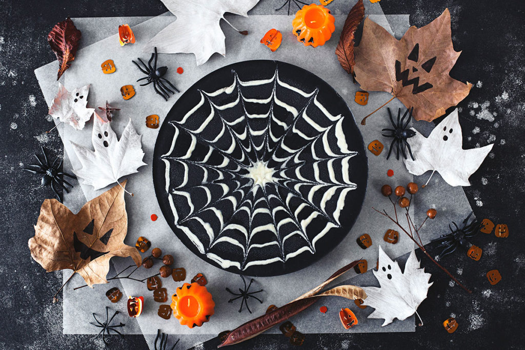 Double Chocolate Halloween cheesecake