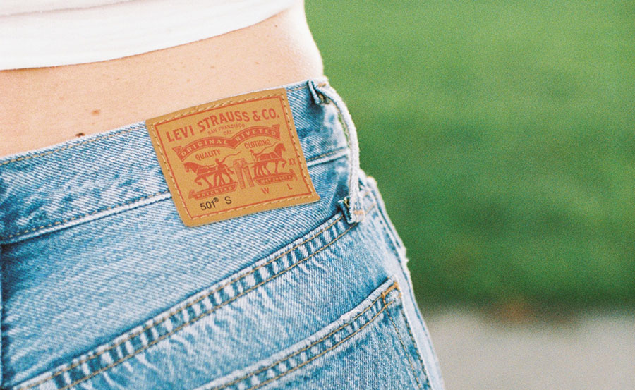 Levis Jeans Leather Patch
